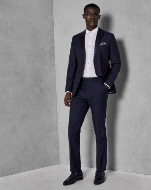 3fda38305f09c7 Wool satin detail dinner suit jacket