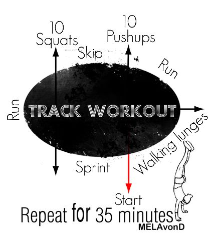 Track workout - wow now this looks fun.... it should add 25 crunches before you restart
