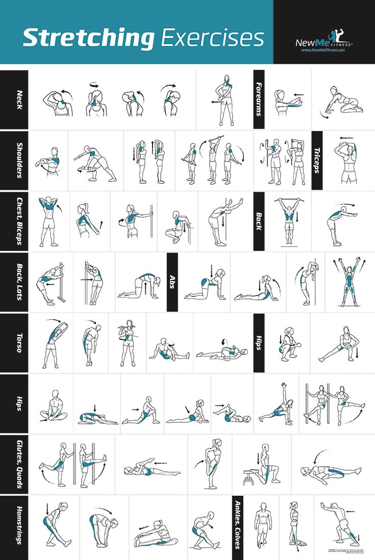I have never seen so many stretches all in one place. And sooo easy to use. Just look at the image and you know what to do!