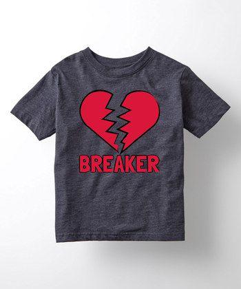 Heather Blue 'Heart Breaker' Tee - Toddler & Kids