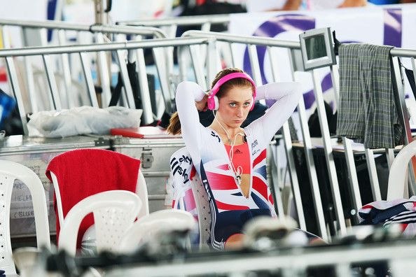 Laura Trott Photos - Laura Trott of Great Britain prepares to ride in the Individual Pursuit round of the Women's Ominium during day five of…