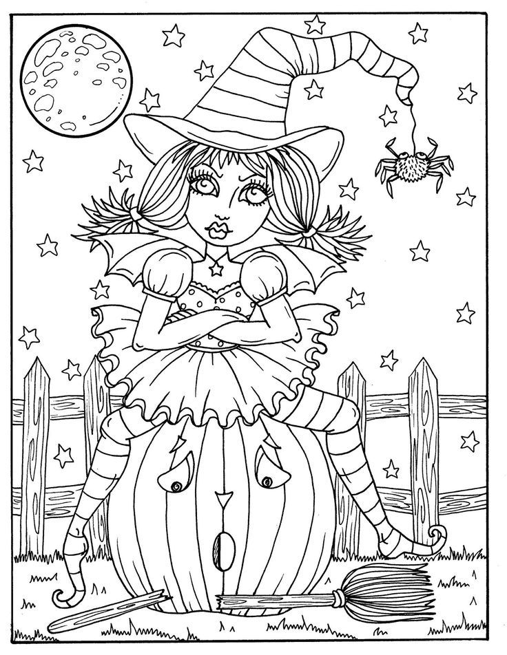 Halloween Witches Coloring Halloween In 2020 Witch Coloring Pages Halloween Coloring Book Halloween Coloring