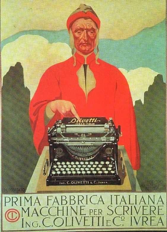 Pubblicità alla prima macchina per scrivere Olivetti, Ivrea