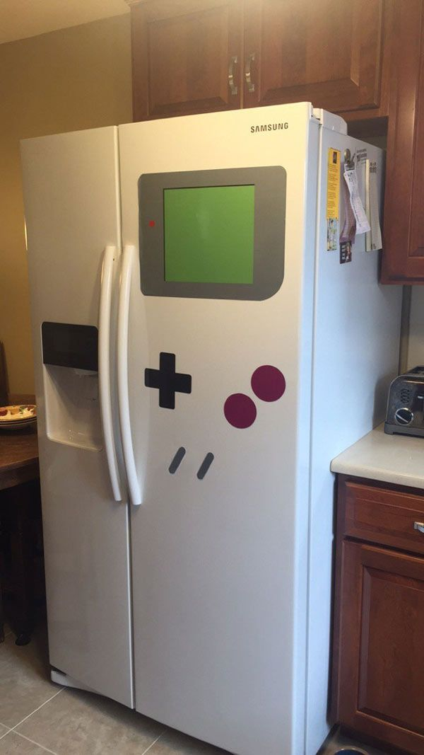 Make your refrigerator look like your favorite 80's video game console with the FreezerBoy magnet set