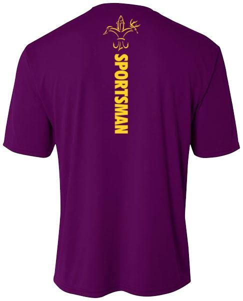 3af8e712 Youth Purple & Gold Performance Fishing Shirt | Sportsman Store | Fishing  shirts, Purple gold, Mens tops