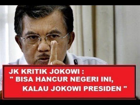Inilah Video Heboh Jusuf Kalla - JK Kritik Jokowi Calon Presiden PDIP | ...