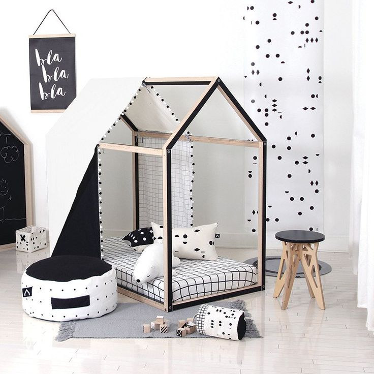 a TAGADA play house Black & Natural birch