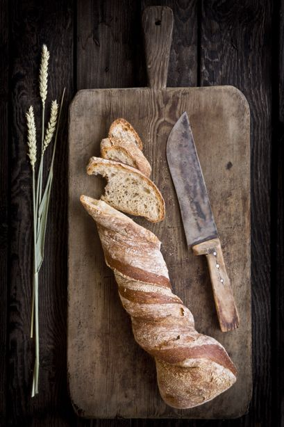 Wheat, bread, knife. Food photography and food styling by weshootfood.net  #food #photography #dubai #foodphotography