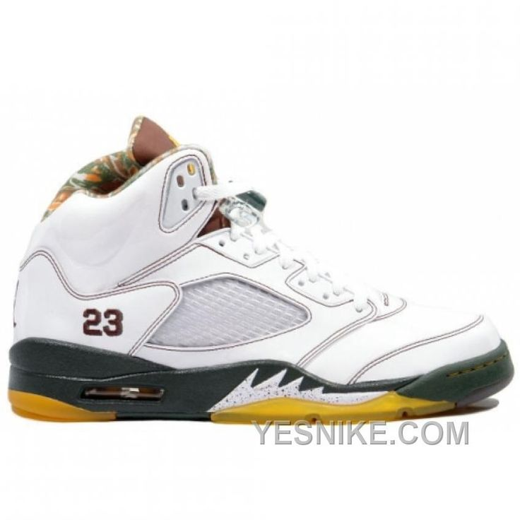 Big Discount! 66% OFF! Air Jordan Retro 5 White Dark Cinder Dark Army  136027-121