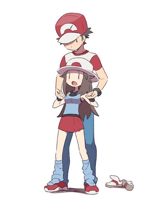 Older Red And Young Blue Pokemon Manga Pokemon Trainer