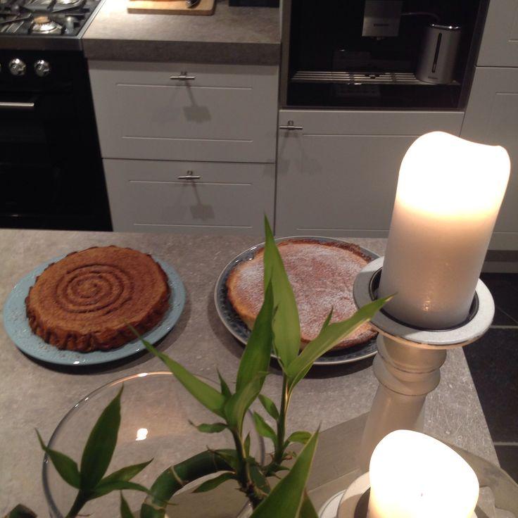 Kastanjetaart en limoen crème taart
