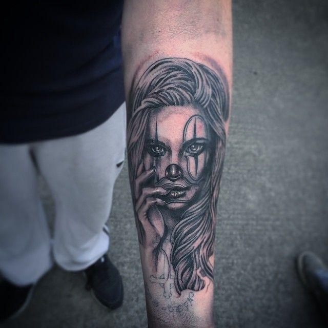 Today's efforts nice way to end the week !! #chicano #clowngirl #jcutthroat