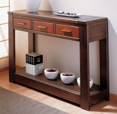 M s de 25 ideas incre bles sobre muebles de madera en - Muebles recibidor modernos ...