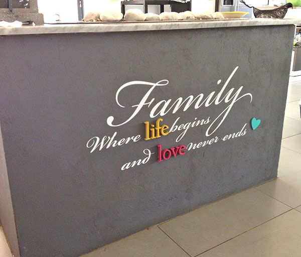 Family: where life begins and love never end Home wall art designs | LoveCoco