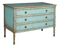 stressed dresser. Love the color.