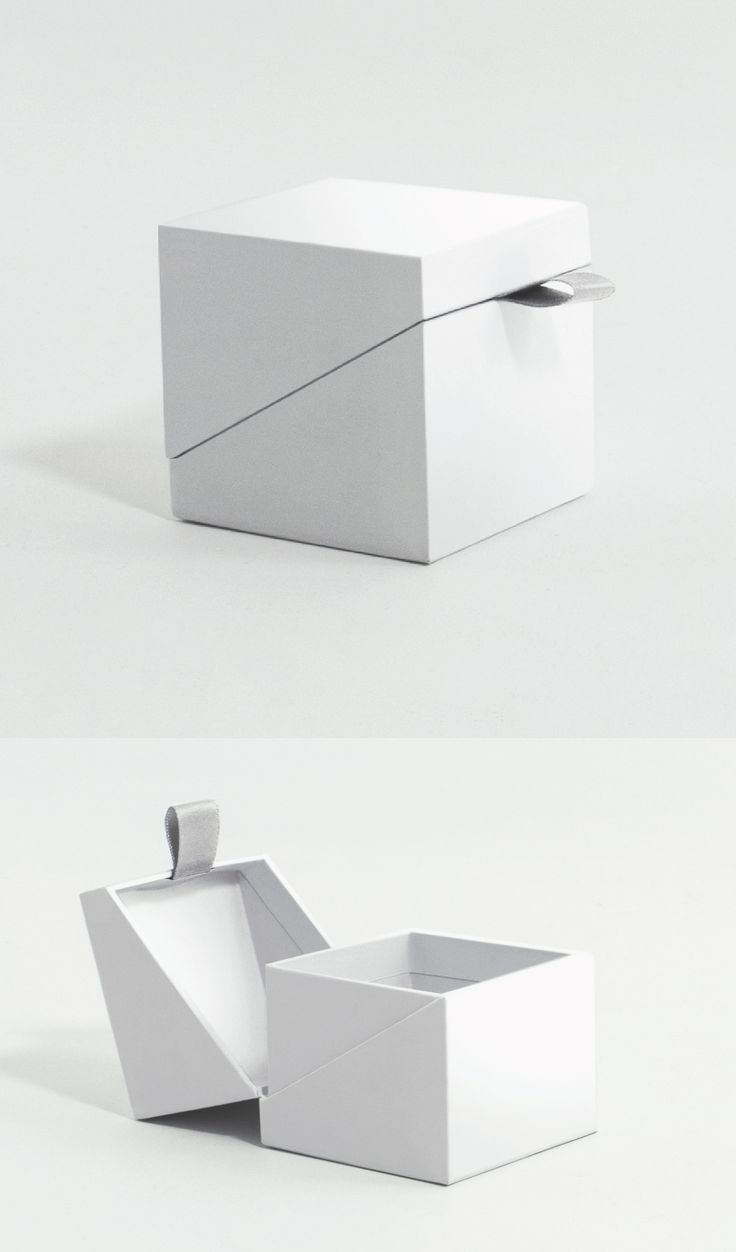 Angled ring box with ribbon pull - a much better engagement ring presentation!