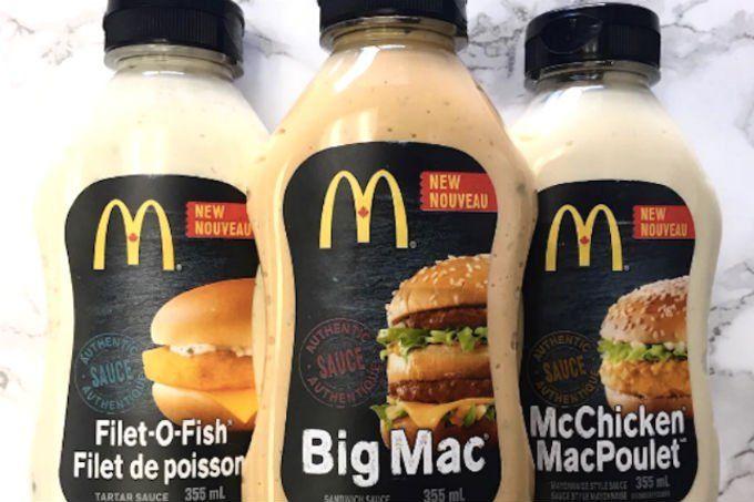 McDonald's anuncia venda de molhos inspirados em seus lanches