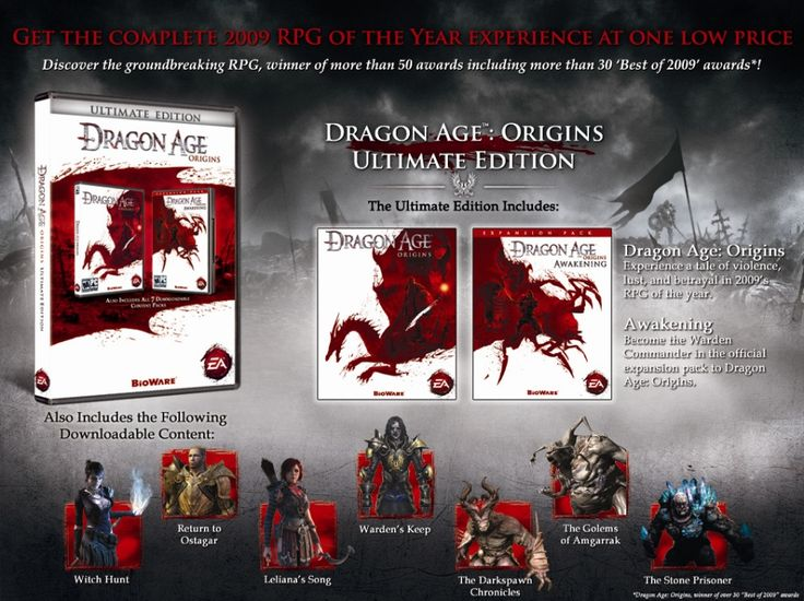 Dragon Age: Origins Ultimate Edition. Contains all expansion packs and DLC.