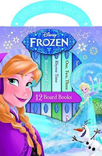 Disney Frozen Books - 12 Frozen Books with Carrying Case For Toddlers