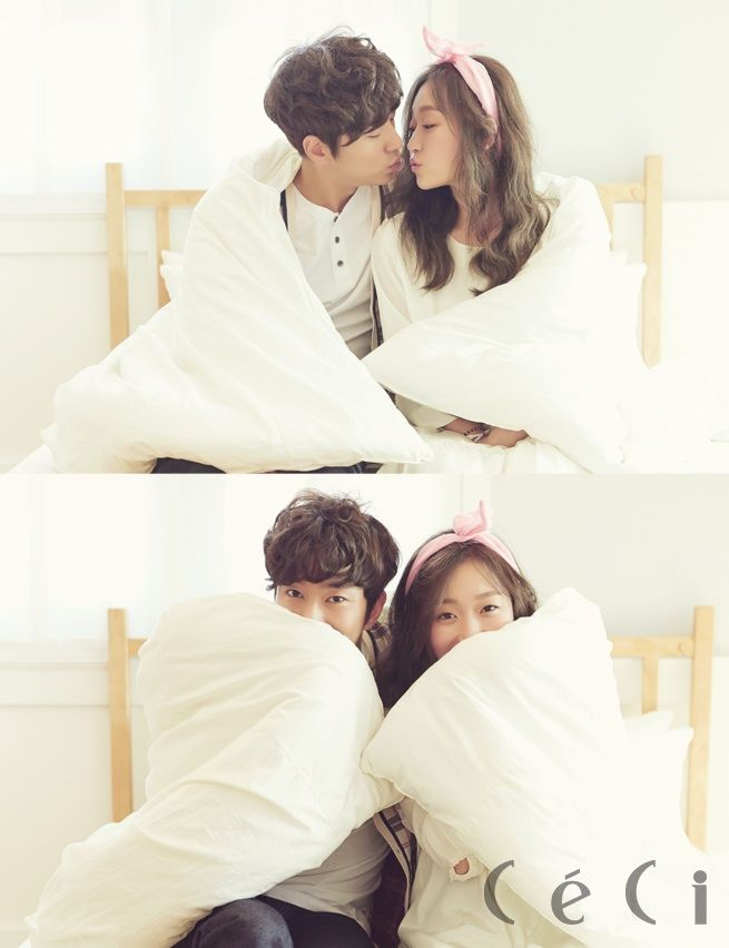 South Korean actor Yoon Hyun Min and actress Kim Seul Gi for CeCi's Nov '14 edition #yoonhyunmin #kimseulgi #ceci #discoveryofromance #findingtruelove #korea #southkorea