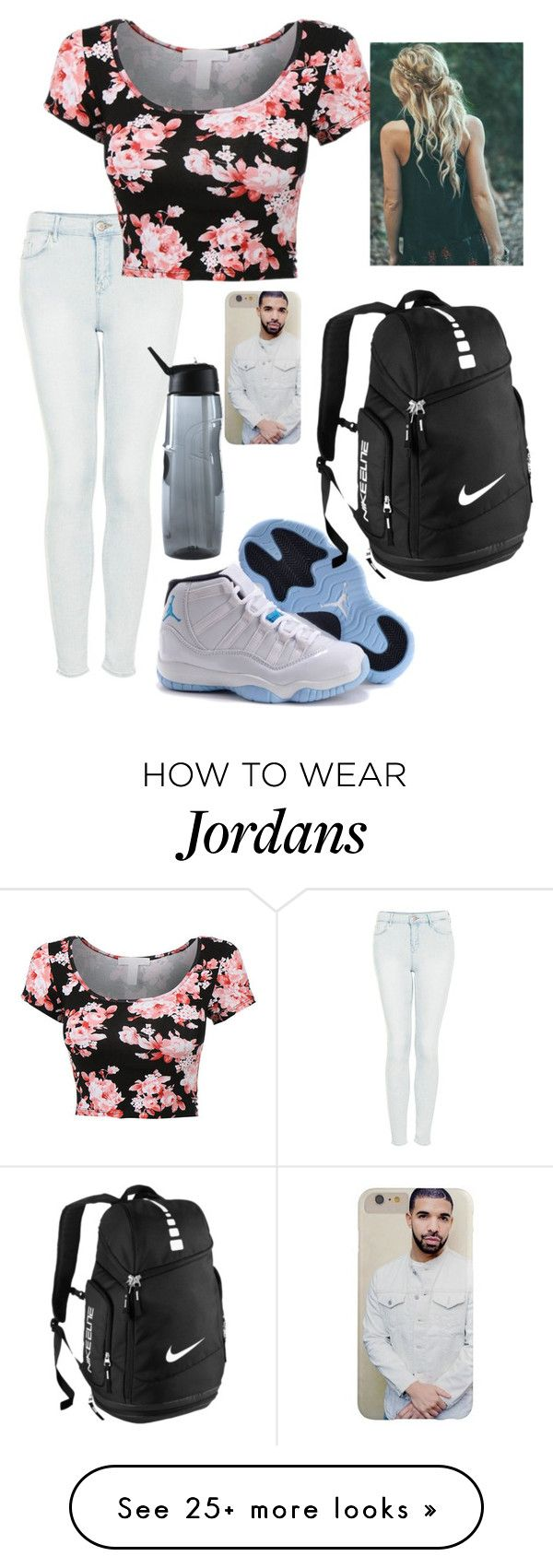 """""""OOTD 10/1/15"""" by kirstinv1226 on Polyvore featuring Topshop and NIKE"""