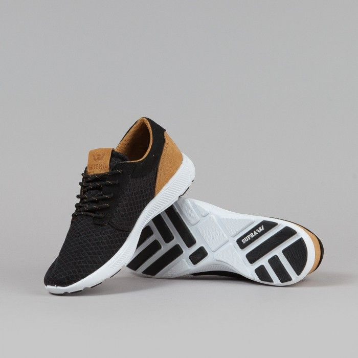 low priced 829a0 2cfee Supra Hammer Run Shoes - Black   Brown   White   Flatspot   Sneakers   Shoes,  Black shoes, Supra shoes men