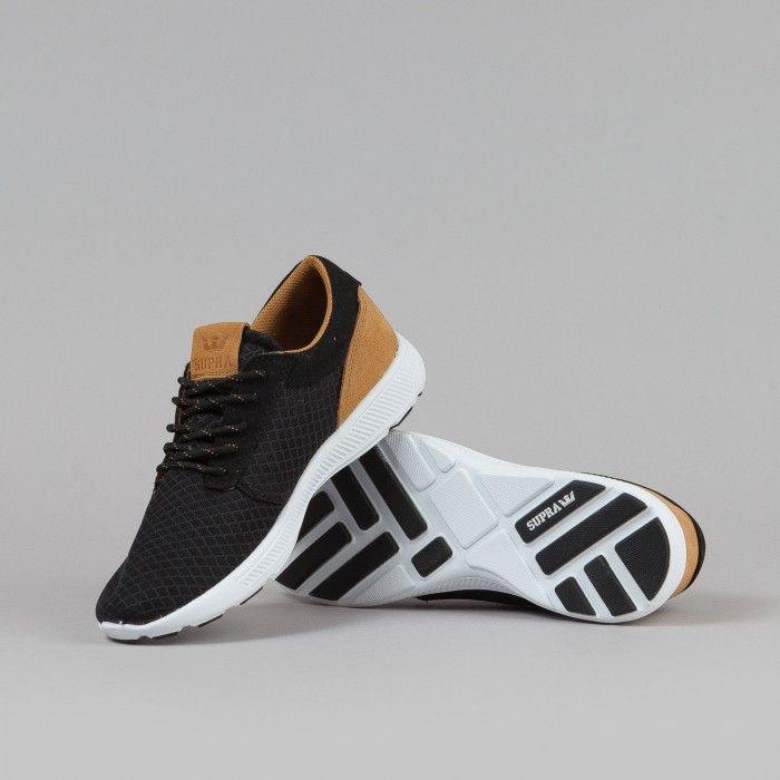 Supra Hammer Run Shoes - Black / Brown / White   Flatspot