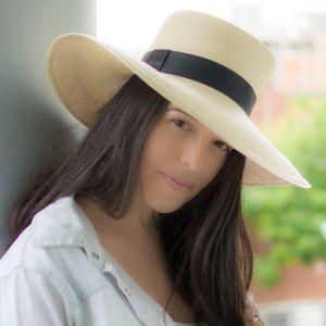 Panama Cuenca Hat - Gambler (Chemise) for Women (Grade 3-4) Wide Brim
