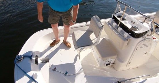 Boston Whaler 150 Montauk: The elevated casting platform has
