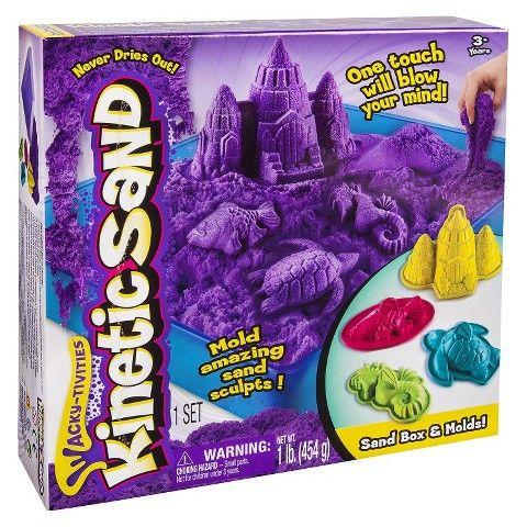 Kinetic Sand - Sandbox & Molds - Purple | Kids Cool Toys UK