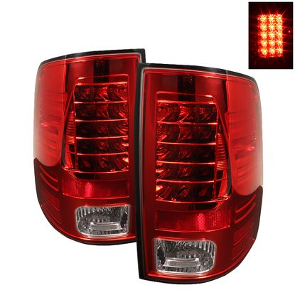 2009-2016 Dodge Ram 1500 / 2010-2016 Ram 2500, 3500 LED Tail Lights - Red Clear