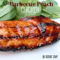 Six Sisters Barbecue Peach Chicken is a tasty grilling recipe!