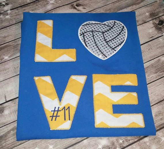 Love Volleyball Shirt by SewManyWishes on Etsy