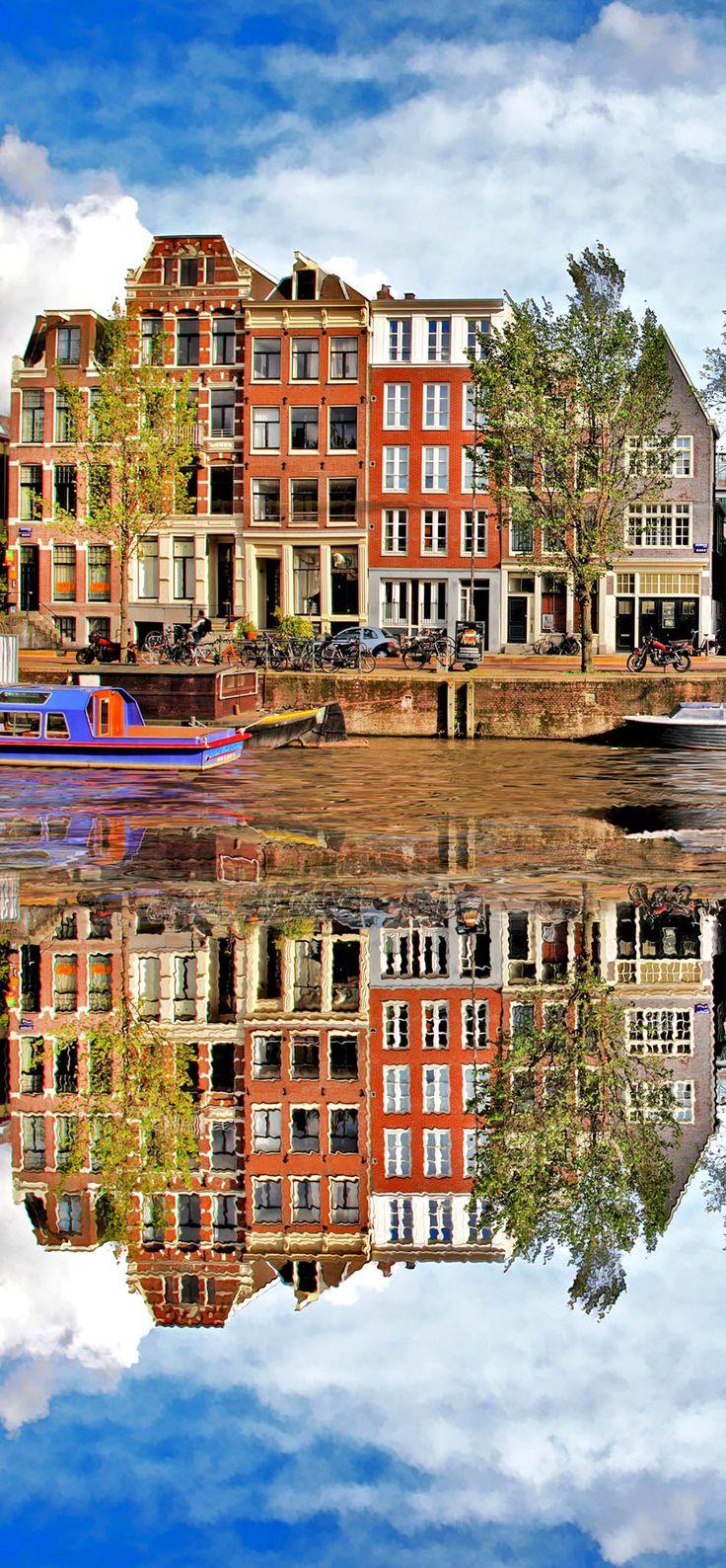 Beautiful View of Amsterdam, Holland