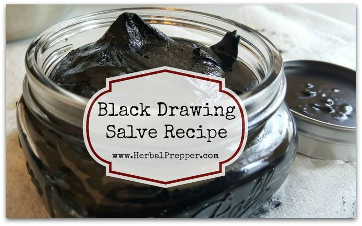 Black Drawing Salve Recipe   Activated Charcoal   Bentonite Clay   Plantain   Bug Bites and Stings   www.HerbalPrepper.com