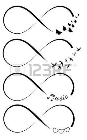 Symboles Infinity Banque d'images
