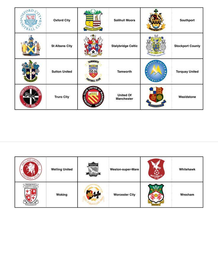Official Club Crests - England (Non League) - Part 3