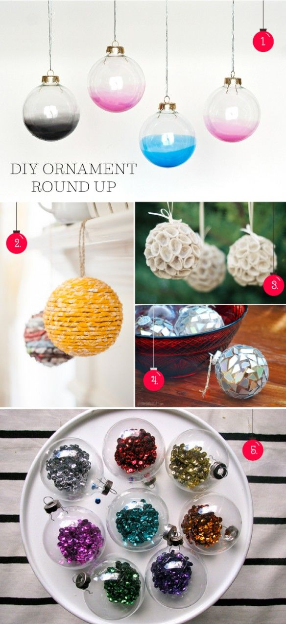 A DIY ornament tutorial for every skill level! This round-up was collected by {stuff steph loves}