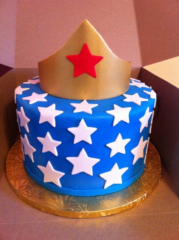 wonder woman - love the blue with white stars