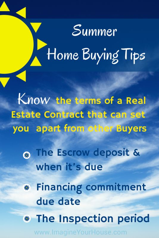 Summer Home Buying tips.