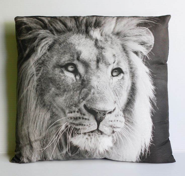 LEO LION Cushion, animal cushion, decorative cushion cover, pillow, 16 x 16 cushion,  41cms organic cotton by mybeardedpigeon on Etsy https://www.etsy.com/listing/126143998/leo-lion-cushion-animal-cushion