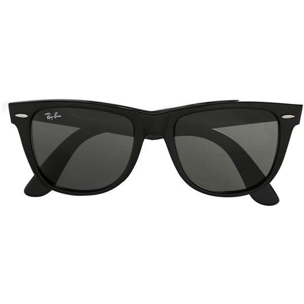 Ray-Ban Oversized Original Wayfarer ($150) found on Polyvore