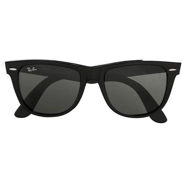 Ray-Ban Oversized Original Wayfarer ❤ liked on Polyvore featuring accessories, eyewear, sunglasses, glasses, óculos, black, black wayfarer sunglasses, ray ban sunglasses, ray ban glasses e black wayfarer glasses