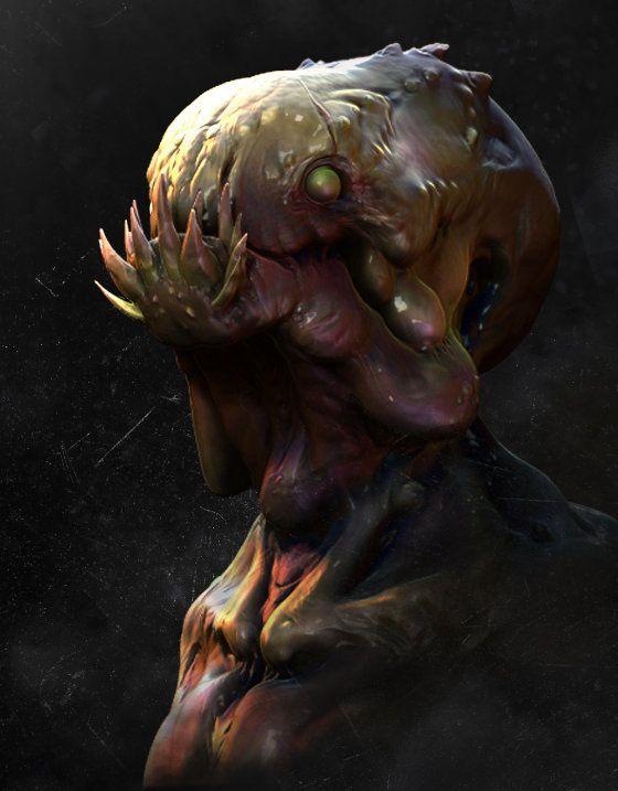 swamp creature?, Joshua Wu on ArtStation at https://www.artstation.com/artwork/swap-creature