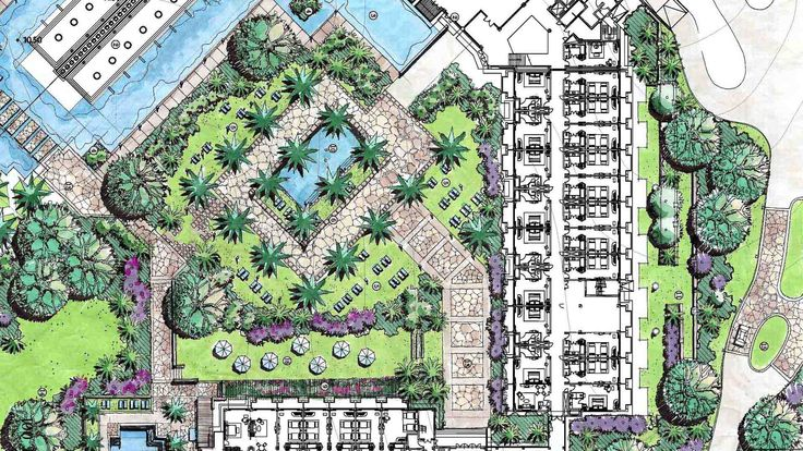 Sheraton huizhou plan 1920 1080 architecture for Garden design 1920 s