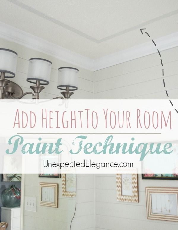 Easily Add Interest to Your Ceiling and Height to a Room with this EASY Paint Technique!  #PaintOnTextures #spon