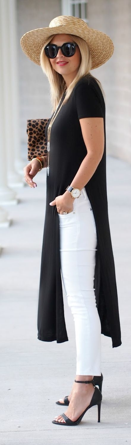 Suburban Faux Pas Black And White Casual Chic Outfit Idea