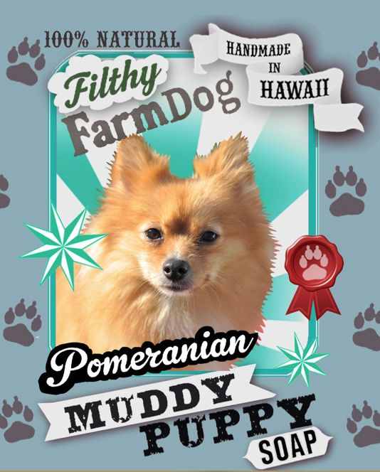 Pomeranian Muddy Puppy Dog Soap
