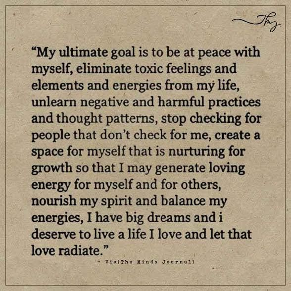 My ultimate goal is to be at peace with myself - http://themindsjournal.com/my-ultimate-goal-is-to-be-at-peace-with-myself/