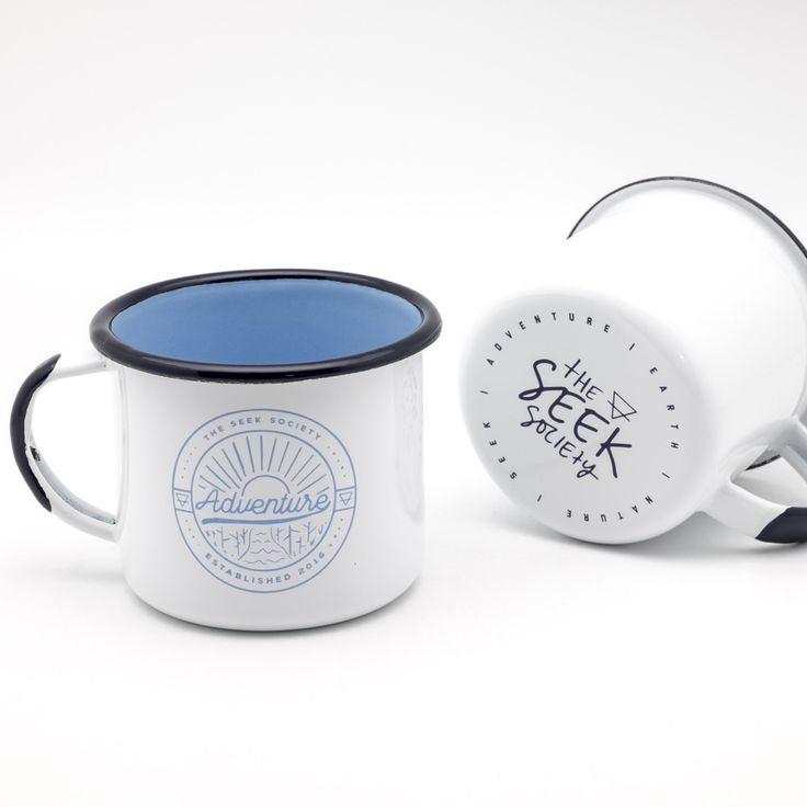 The adventure mug is quality enamelware designed by The Seek Society's in Sydney, Australia and hand crafted by skilled enamel professionals in Europe.